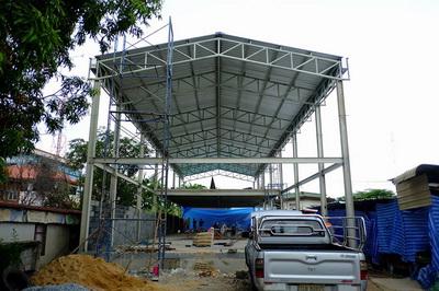 งานก่อฉาบผนังก่อสร้างโกดัง (4)