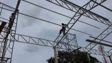 งานติดตั้งโครงหลังคา (2)