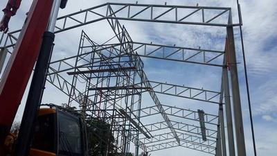 งานติดตั้งโครงหลังคา (4)