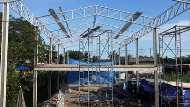 งานติดตั้งโครงหลังคา (5)