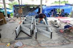 งานถักโครงหลังคาโกดัง (3)