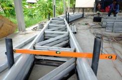 งานถักโครงหลังคาโกดัง (6)