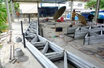 งานถักโครงหลังคาโกดัง (7)