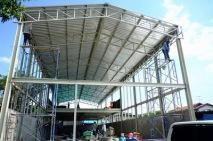 งานติดตั้งบานเกล็ดเมทัลชีทระบายอากาศ ก่อสร้างโกดัง (4)
