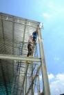 งานติดตั้งบานเกล็ดเมทัลชีทระบายอากาศ ก่อสร้างโกดัง (1)