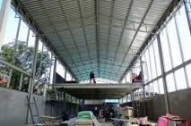 งานติดตั้งบานเกล็ดเมทัลชีทระบายอากาศ ก่อสร้างโกดัง (6)
