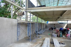 งานติดตั้งบานเกล็ดเมทัลชีทระบายอากาศ ก่อสร้างโกดัง (2)