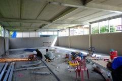 งานติดตั้งบานเกล็ดเมทัลชีทระบายอากาศ ก่อสร้างโกดัง (7)
