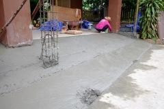 เทพื้นงานซ่อมรั้วทรุดกำแพงเอียง (2)
