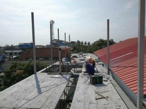 งานเทพื้นคอนกรีตสร้างบ้านโครงเหล็ก (1)