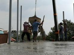 งานเทพื้นคอนกรีตสร้างบ้านโครงเหล็ก (3)