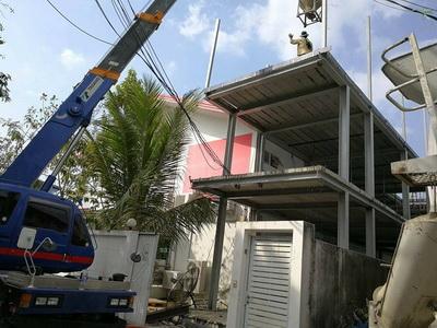 งานเทพื้นคอนกรีตสร้างบ้านโครงเหล็ก (4)
