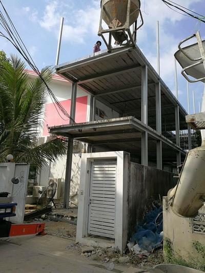 งานเทพื้นคอนกรีตสร้างบ้านโครงเหล็ก (9)