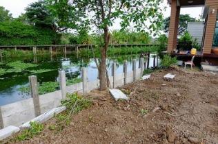 ก่อสร้างเขื่อนกำแพงกันดินริมคลอง (8)