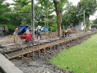 เทคานก่อสร้างเขื่อนกำแพงกันดิน (2)
