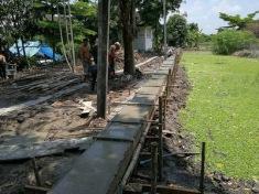เทคานก่อสร้างเขื่อนกำแพงกันดิน (4)